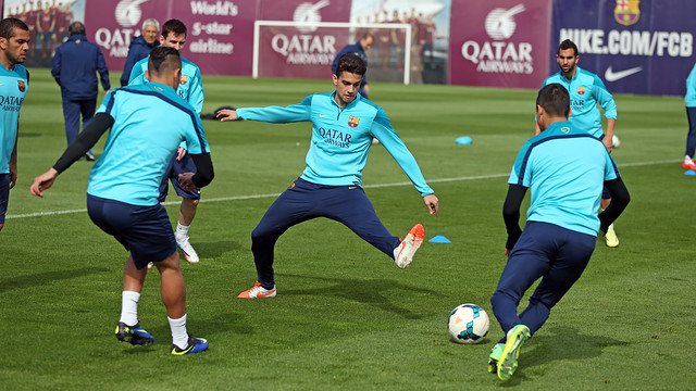Bartra goes in for the tackle.