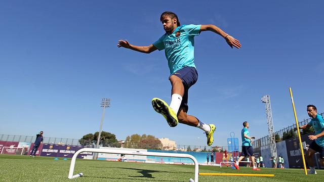 Neymar in training: PHOTO MIGUEL RUIZ - FCB
