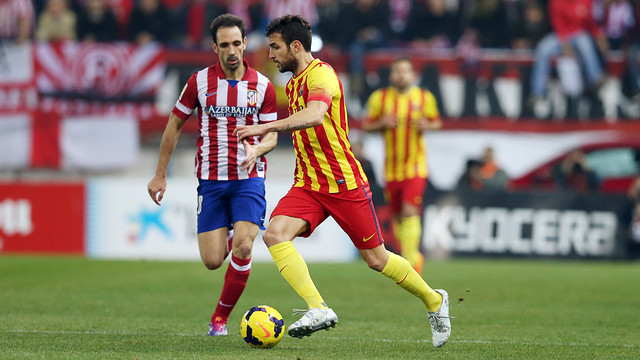 Cesc beating a man at the Calderon