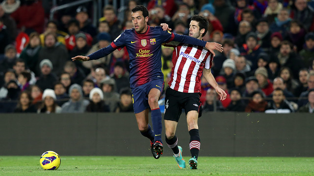 Busquets was in the side that hosted Bilbao last season. PHOTO: MIGUEL RUIZ - FCB