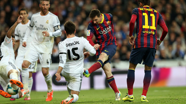 Messi was outstanding in the 4-2 win at the Bernabéu / PHOTO: MIGUEL RUIZ-FCB