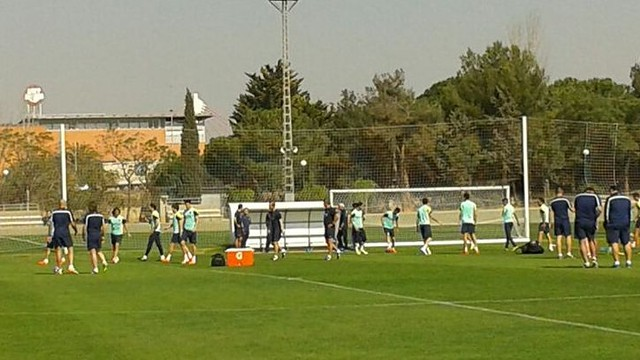 Barça used Valencia's training ground this morning / PHOTO: FCB