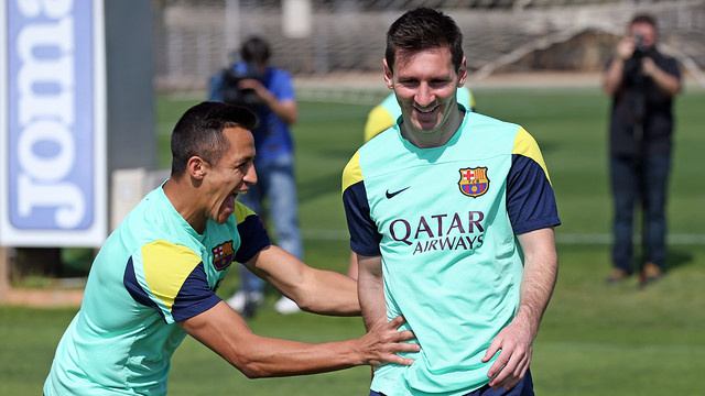 Leo Messi and Alexis are included in the 18-man squad./ PHOTO: MIGUEL RUIZ - FCB