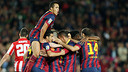 Team celebrate the victory / PHOTO: MIGUEL RUIZ-FCB
