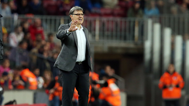 Tata Martino during the Barça-Athletic Club game / PHOTO: MIGUEL RUIZ - FCB