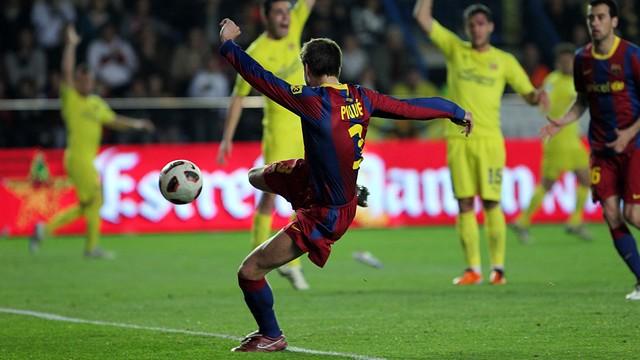 Piqué ha estat l'últim blaugrana en marcar a Vila-real / FOTO: MIGUEL RUIZ-FCB