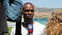 Abidal talking to Barça TV / PHOTO: MIGUEL RUIZ-FCB