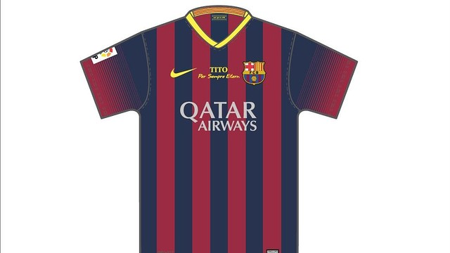 The players will wear a special shirt on Saturday in tribute to Tito Vilanova
