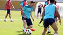 Leo Messi trained at the Ciutat Esportiva this morning / PHOTO: MIGUEL RUIZ-FCB