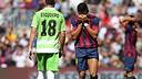 Alexis, decebut durant el partit / FOTO: MIGUEL RUIZ-FCB