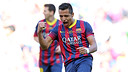 Alexis Sánchez celebrating the 2-1 against Getafe / PHOTO: MIGUEL RUIZ-FCB