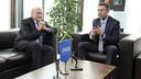 Joseph Blatter et Josep Maria Bartomeu, à Zurich. PHOTO: FIFA/Foto-net