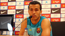 Pedro spoke to the press this morning. PHOTO: MIGUEL RUIZ - FCB