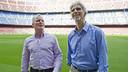 Herbert y Hill, en el Camp Nou. FOTO: VÍCTOR SALGADO-FCB.