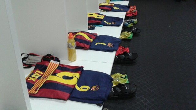 The Barça kit all laid out and ready/ PHOTO: FCB