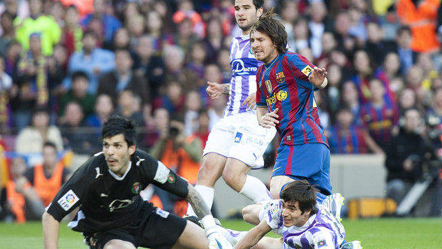 The last league title celebrated with a home win was against Valladolid in 2010 / PHOTO: MIGUEL RUIZ-FCB
