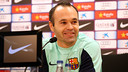 Andres Iniesta, en conférence de presse / Photo Miguel Ruiz