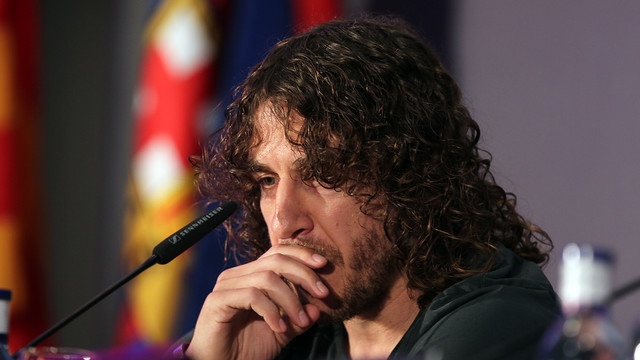 Carles Puyol bid farewell to FC Barcelona today / PHOTO: MIGUEL RUIZ - FCB