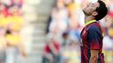 Busquets es lamenta pel resultat final del partit / FOTO: MIGUEL RUIZ - FCB