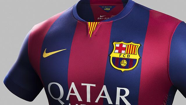 Barça's new 2014/15 home kit