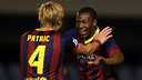 Adama celebrating one of his goals/ PHOTO: MIGUEL RUIZ-FCB