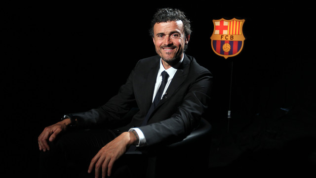Luis Enrique during his interview with the Club / PHOTO: MIGUEL RUIZ - FCB