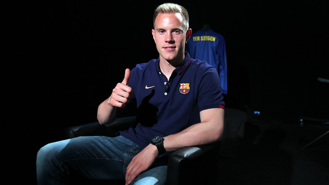 Ter Stegen before the interview / PHOTO: MIGUEL RUIZ-FCB