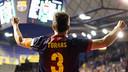 Jordi Torras celebrant un gol al Palau Blaugrana