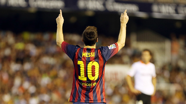 Messi in the Mestalla / PHOTO: MIGUEL RUIZ-FCB