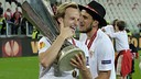 Rakitic won the Europa League with Sevilla last season. PHOTO: Sevilla FC