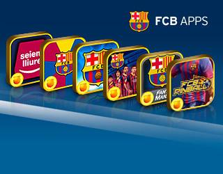Los logos de las diferentes apps del Barça