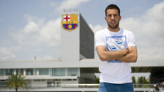 Jordi Alba signed two years ago today / PHOTO: MIGUEL RUIZ - FCB