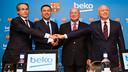 Faus, Bartomeu, Koç and Çakıroğlu / FOTO: FCB