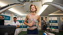 Rakitic during his medical. PHOTO: GERMÁN PARGA - FCB