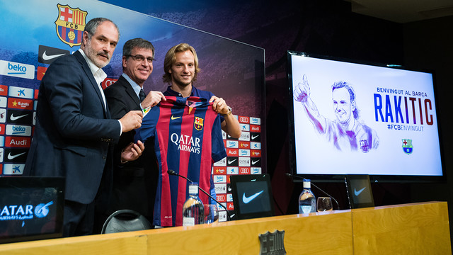 Zubizarreta, Mestre and Rakitic. PHOTO: GERMÁN PARGA / VÍCTOR SALGADO -FCB.