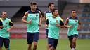 Les joueurs, à l'entrainement / PHOTO: ARXIU FCB