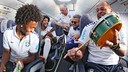 Brazil's national team on the plane / PHOTO: @dante_bonfim (Twitter)