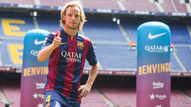 Rakitic arrived at the Camp Nou this week. PHOTO: GERMÁN PARGA-FCB.