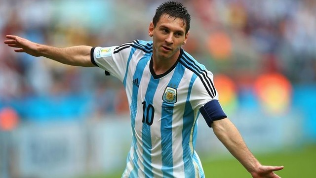 Messi celebrating a goal at the World Cup/ PHOTO: FIFA.COM