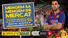Sergio Busquets a un mercat amb la samarreta del Barça i una bossa amb hortalisses penjada de l'espatlla. Activitats educatives per a Primària i ESO. Reserves i materials al web www.menjodemercat.cat