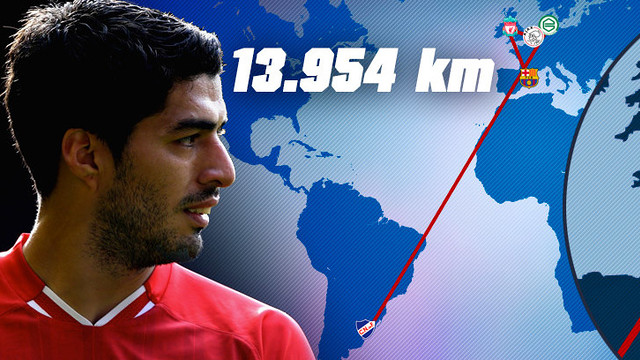 It's been quite a journey for Suarez from Montevideo to Barcelona