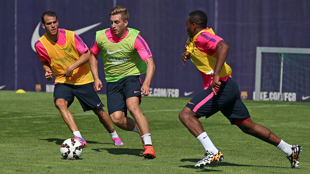 Deulofeu was one of the 22 players that trained this morning / PHOTO: MIGUEL RUIZ-FCB