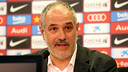 Zubizarreta spoke to the press this Wednesday lunchtime / PHOTO: MIGUEL RUIZ-FCB