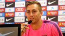 Gerard Deulofeu spoke to the press on Thursday morning / PHOTO: MIGUEL RUIZ - FCB