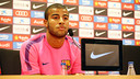 Rafinha at a press conference talking about the start of the season / PHOTO: MIGUEL RUIZ - FCB