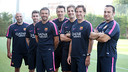 Luis Enrique, with his coaching team/ PHOTO: MIGUEL RUIZ-FCB