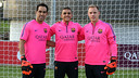 Bravo, Masip and Ter Stegen in St George's Park / PHOTO: MIGUEL RUIZ-FCB