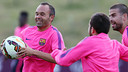 Andrés Iniesta during the afternoon session / PHOTO: MIGUEL RUIZ - FCB