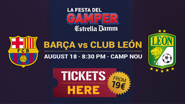 Tickets Gamper Barça Club León