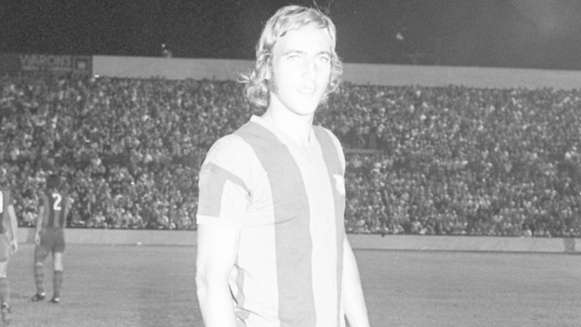 Neeskens at the Rico Pérez on the day of his Barça debut